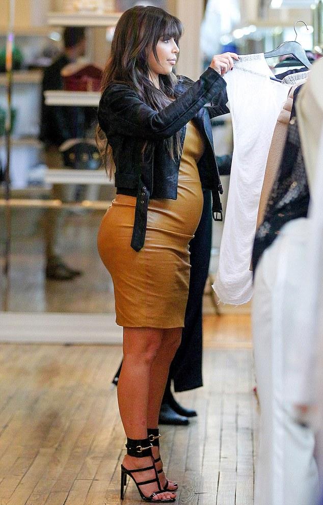 Kim Kardashian is Leather Bound in New York