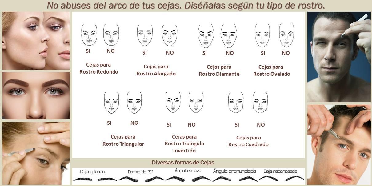 Cejas según el rostro