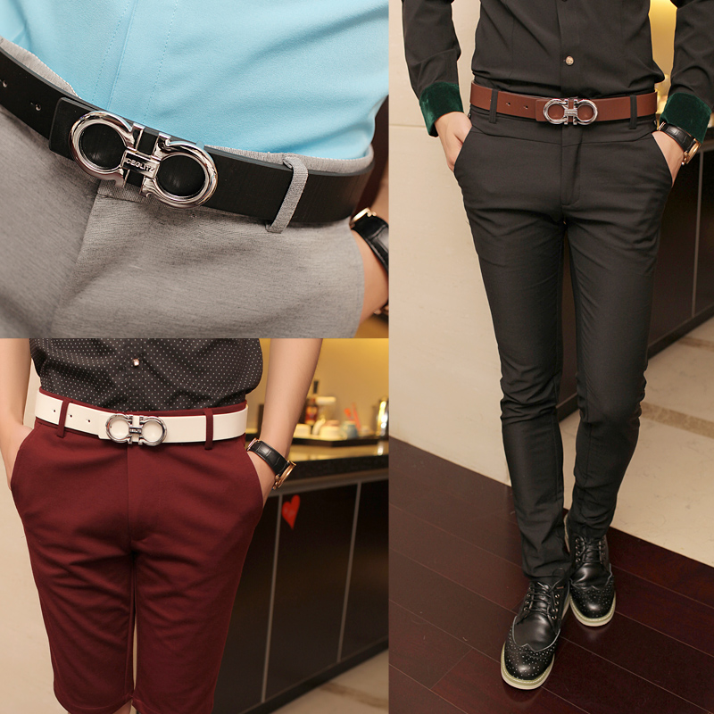 Free-shipping-2013-latest-fashion-men-s-leisure-personality-metal-letters-buckle-belts